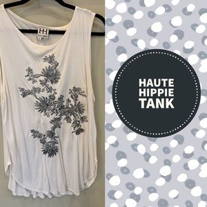 Haute Hippie Embroidered Tank